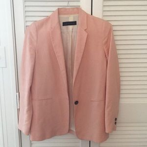 Lined linen blazer